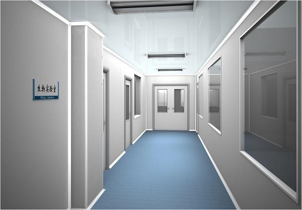 大连生物实验室走廊